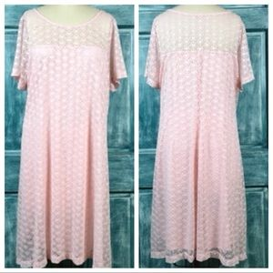 Lane Bryant Pink Lace Swing Dress Lined NWT 18/20